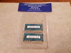 Barettes Mémoire HYNIX 4GB 2X2Go 1Rx8 PC3-12800S-11-12-B2 HMT325S6CFR8C-PB N0 AA