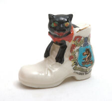 Arcadian Crested China Black Cat In Boot * Kinloch Rannoch *