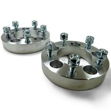 Pair 5x4.5 114.3 Wheel Spacers 1/2 Lug 1.25 Thick Ford Mustang Galaxie Taurus -3