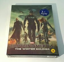 CAPTAIN AMERICA The Winter Soldier [3D] Blu-ray STEELBOOK KIMCHIDVD Lenti [#226]