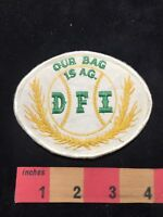 Vtg DFI OUR BAG IS AG Agricultural Farmer Advertising Patch 87NI
