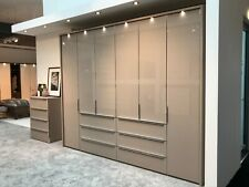 LUXURY GERMAN MOBEL WARDROBE BEDROOM NUDE GREY SILVER WHITE GLASS FITTED FREE