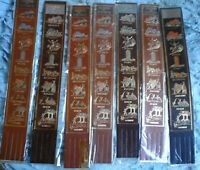 LEATHER AUSTRALIANA BOOK MARKS AUSTRALIAN CITIES 28 X 4 CM SOUVENIR AUSTRALIA