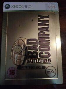 Battlefield: Bad Company Gold Edition Steelbook (Microsoft Xbox 360, 2008) PAL