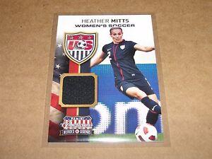 2012 Americana HEATHER MITTS #9 Game Worn Uniform SP/199 US Women Olympic Soccer