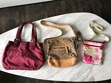 Lot of 3 Coach Used F17401 9362 Cross body Purse Bag