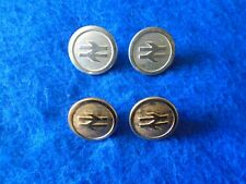 4 X BRITISH RAIL 23MM GOLD AND 26MM SILVER BUTTONS, GAUNT & BUTTONS LTD