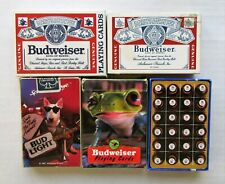 Lot of 5 Budweiser Playing CardsComplete Decks Sealed