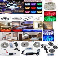 1 à 25m Bande LED Strip RGB Lumière Ruban 5050 SMD+Télécommande 24/72h express