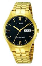 Lorus Men's Gold Plated Strap Polished Wristwatches