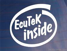 Ecutek dentro Vinilo car/window/bumper calcomanía / etiqueta adhesiva-Ideal Para evo/impreza