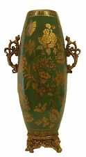 Pedestal & Handle ceramic vase pottery/ Gift / Home decorative