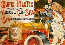 Art Poster French France Automobile Club and Spa Coupe Pilette 07 Car Deco Print