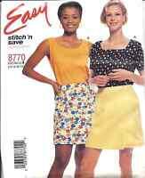 8770 UNCUT McCalls Vintage Sewing Pattern Misses Tops Skort Hard to Find Easy FF
