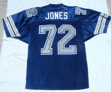 DALLAS COWBOYS Away Blue Too Tall Jones #72 Stitched NFL Autographed Jersey Mint