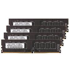 16GB Kit (4x 4GB) DDR4 2133Mhz PC4-17000 DDR4 SDRAM 288-Pin Intel Desktop Memory