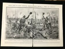 WW1 1915 2-Page Newspaper Illustration BRITISH CHEERS FOR HEROIC CANADIANS YPRES