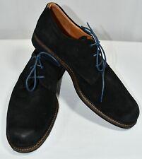 Ecco Navy Blue Suede Derby Oxford Lace Up Shoe Men 44 EU/ 10-10.5 US Extra Width