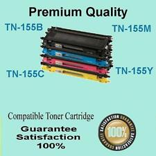 4 X TN155 BCMY Toner Cartridge for Brother DCP-9042CD MFC-9450CDN MFC-9840CDW