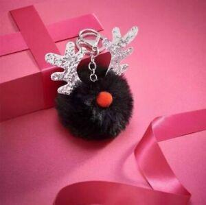 Avon Reindeer Pom Pom Keyring Bag Charm. Brand New. Christmas Gift.