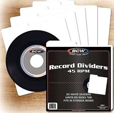 25 New 45 RPM Record Dividers Index Tab for 7 Inch Record Storage Boxes