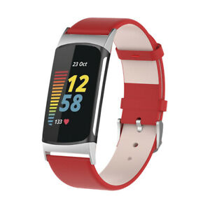 For Fitbit Charge 5 Stainless Steel/Leather/Nylon/Silicone Band Strap Bracelet