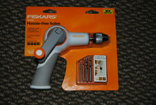 United fiskars 8511 Hand Drill Black Craft Power Grip Hand-powered Crank Tool lot Of 2