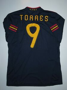 Adidas 2010 Spain World Cup Fernando Torres Away Navy Jersey Kit Shirt Espana