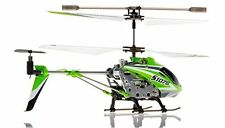 3CH S107/S107G w/ Color) Gyro Indoor Mini R/C Helicopter Co-Axial Syma (Green