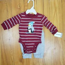 Carters Newborn Outfit Set Bodysuit And Pants Long sleeve...