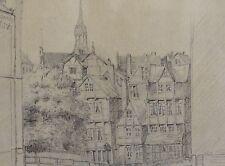 """H. AMBERG signiert - Bleistiftzeichnung 1897: ORT / ORTSTEIL """" THIERHOF """""""