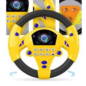 Kids Backseat Electronic Steering Wheel Toy Children Driver Car Game Sound Toys