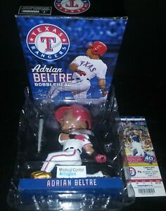 ADRIAN BELTRE Texas Rangers 2012 SGA Bobblehead NEW IN BOX + TICKET ~ HOLY GRAIL