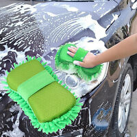 Microfaser Mikrofaser Reinigungsbürste Auto Schwamm Tuch Handtuch Grün ~ R6Y0
