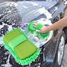 Microfaser Mikrofaser Reinigungsbürste Auto Schwamm Tuch Grün Gree Handtuch P2Z8
