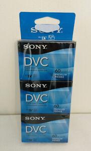 SEALED Sony DVC Mini-DV 60 3-Pack Blank Tapes Digital Video Cassettes