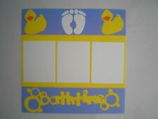 Bath time 2 #106 premade scrapbook pages