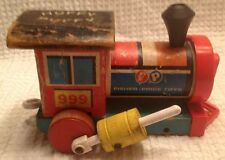 Vintage Fisher Price Huffy Puffy 1963 Train Pull Toy Engine Locomotive Only