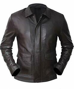 Indiana Jones Harrison Ford Brown Vintage Real Leather Jacket