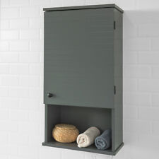 SoBuy®Bathroom Wall Mounted Medicine Storage Cabinet  with One Door,BZR25-DG,UK