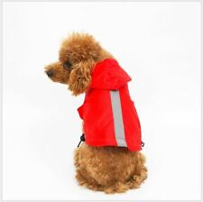 Dog Raincoat Waterproof Outdoor Hoodie High Visibility Reflective Bulldog Teddy