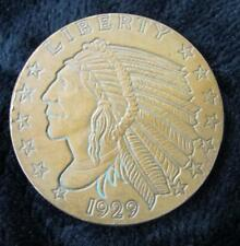 Golden Mint 1 ounce .999 Fine Copper * Indian Head * 1929 * Beautiful Round!