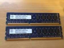 4GB (2x2GB) Nanya 1Rx8 PC3 10600U 1333mhz DDR3 RAM Desktop Memory Kit PC Paired