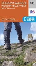 Cheddar Gorge & Mendip Hills West Explorer Map 141 - OS - Ordnance Survey