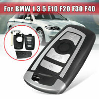 Car Smart Remote Key Fob Case Blade For BMW F10 F20 F30 F40 1 3 5 Series 4Button