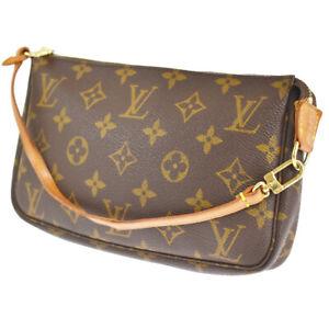 LOUIS VUITTON Pochette Accessoires Hand Bag Monogram Leather BN M51980 80SC073