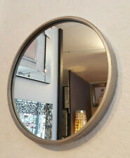 "Modern Round Metal Frame Antique Silve Wall Hanging Mirror 40cm 16"" Home Living"