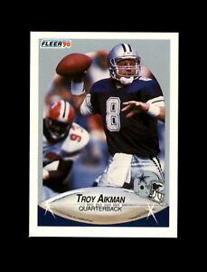 1990 Fleer Football #384 Troy Aikman (Cowboys) MINT