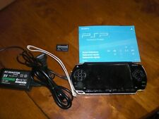 Sony PSP 1000 Original Black Console System + Charger Memory Card Screen Cracked