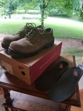 Red Wing Steel Toes Brown Work Shoes 6634 Mens 11D w/ inserts